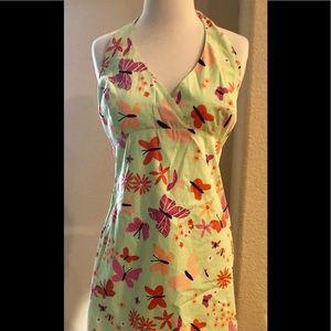 Lilly Pulitzer Butterflies print Halter dress.